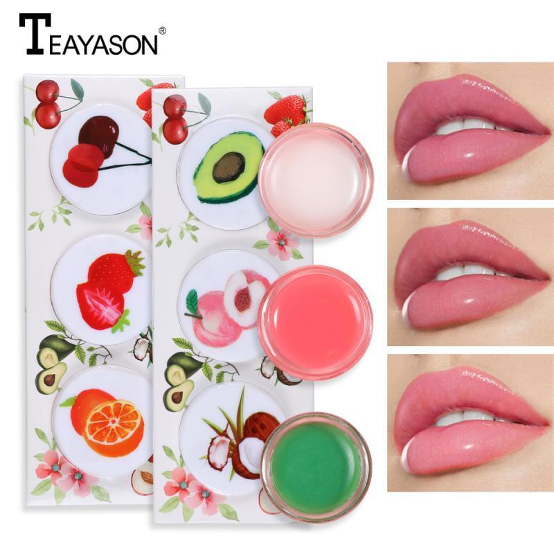 3pcs TTEAYASON / set di sonno membrana lip gloss idratante nutriente rossetto lip gloss color cristallo rossetto crema notte TSLM1