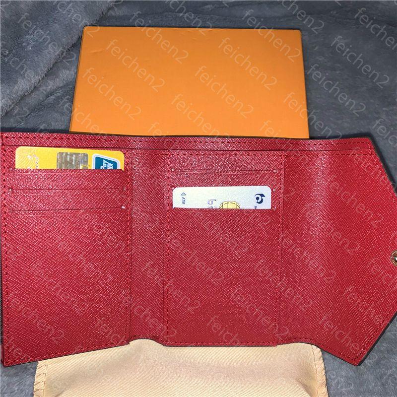 Tenedor de color para mujer de cuero multi cuero corta dama clásica con cremallera para mujer monedero monedero bolsillo de crédito con caja de alta calidad a3 jnmum