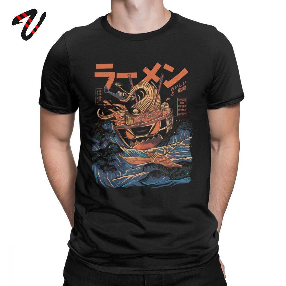 Os Kanagawa Camiseta Noodle Navio grandes t-shirt Ramen fora dos homens japonês Harajuku Roupa Hip Hop 2020 camisetas Anime Streetwear
