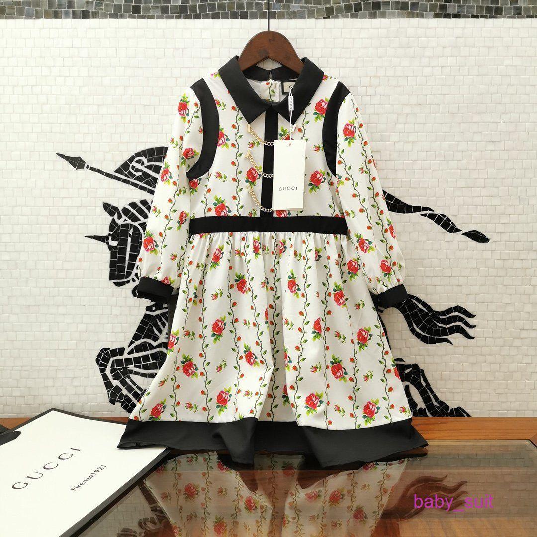 Fille Tide Été mode haute qualité couleur assortie impression robe de motif