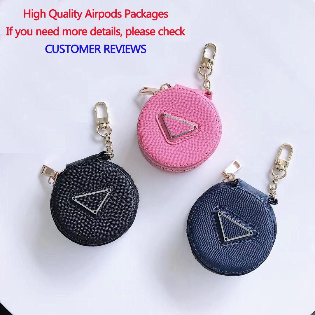 Moda novo design de embalagem para fone de ouvido Preto Rosa Airpods Marinha Airpods capa protetora com Triângulo Invertido Adequado 1/2/3