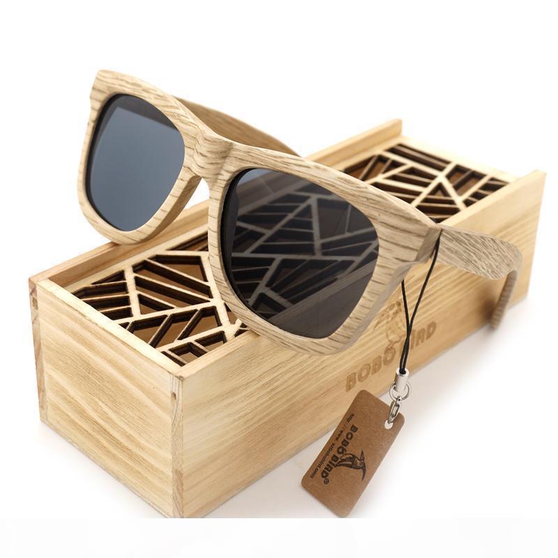 BOBO KUŞ MARKA AG007 AHŞAP GÖZLÜKLER El yapımı Doğa Ahşap Polarize Güneş Gözlüğü Yeni Gözlük ile Yaratıcı Ahşap Hediyelik Kutu
