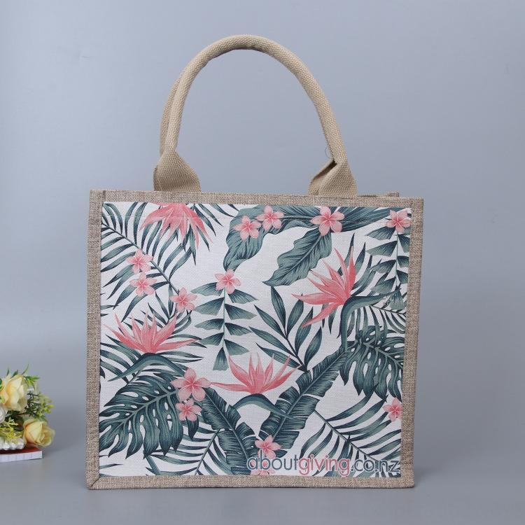 Yaratıcı moda taşınabilir keten reklam elden alışveriş çantası alışveriş çantası keten çanta