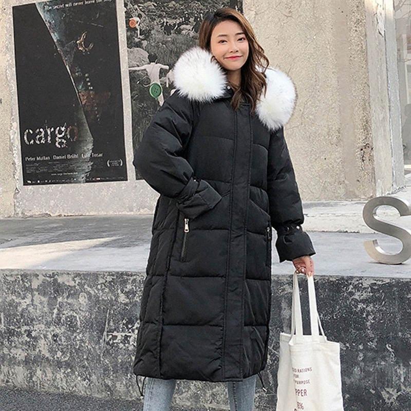 Nicesnowl Solil Pelz verdicken lang hinunter Mäntel Frauen-beiläufige lange Hülse 2020 Warm neues Design Baumwollmäntel Weibliche Frauen beschichten unten pVhF #