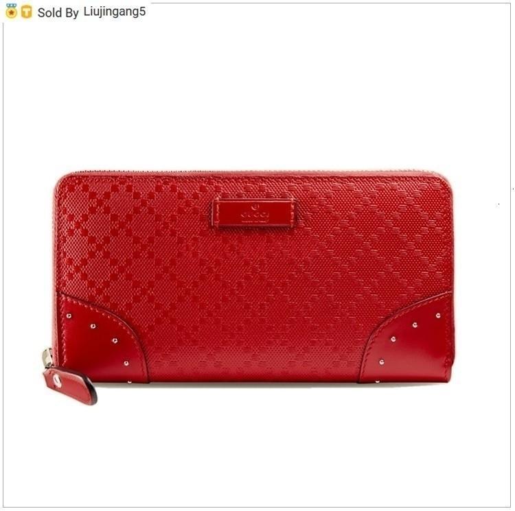 Liujingang5 Red Leather Long Zip Wallet Totes сумки на ремне сумки рюкзаки кошельки Кошелек