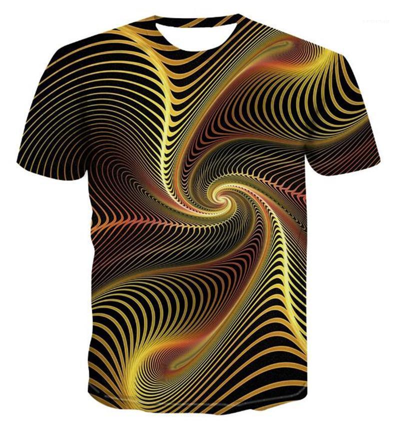 Designer Tshirts beiläufige O-Ausschnitt Kurzarm Visual Art-T-Shirt neue Mens-Sommer-Kleidung der Männer 3D