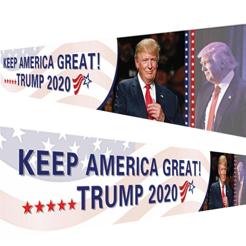 Trump Bandiera Keep America Grande Bandiera 250 * 48 centimetri Trump 2020 Elezioni presidenziali Banner Trump campagna banner Bandiera CYZ2582