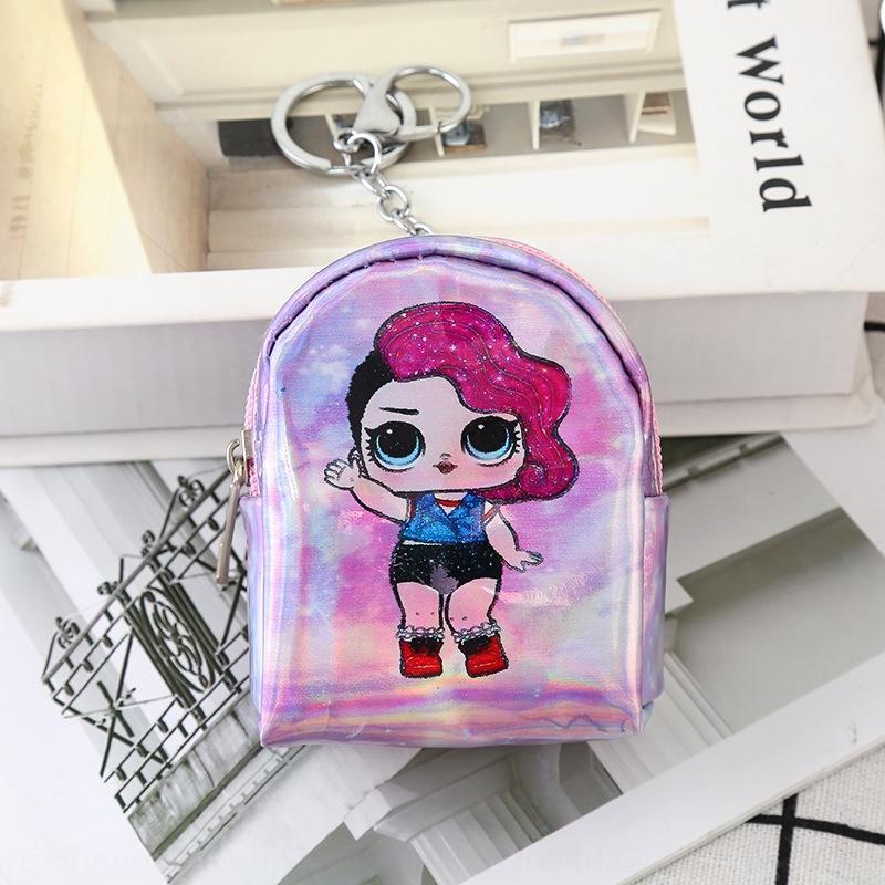 2019 New wallet Magic wallet Surprise doll magic color coin purse small schoolbag laser mini coin purse earphone bag straight