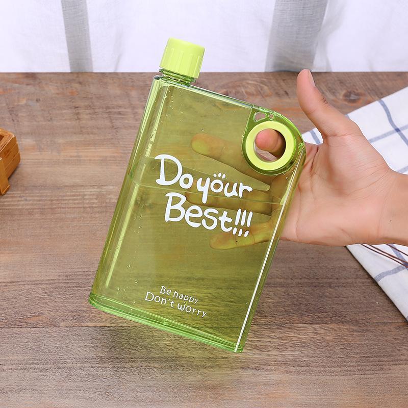 البلاستيك شفاف صقيع أكواب الدائري مسطح صغير في الهواء الطلق مربع زجاجة المياه مربع ختم سقوط الوقاية أكواب تفعل أفضل حار بيع 5 5YG F2