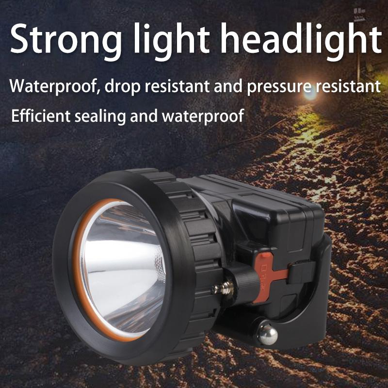 LED mining headlamp outdoor riding fishing portable waterproof headlight uses 18650 battery for long-time lighting