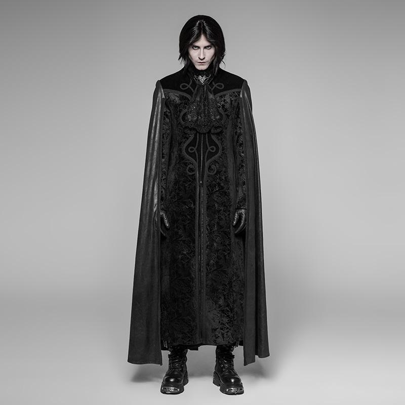 Punk Rave uomo Goth lungo mantello cappotto WY-934LCM