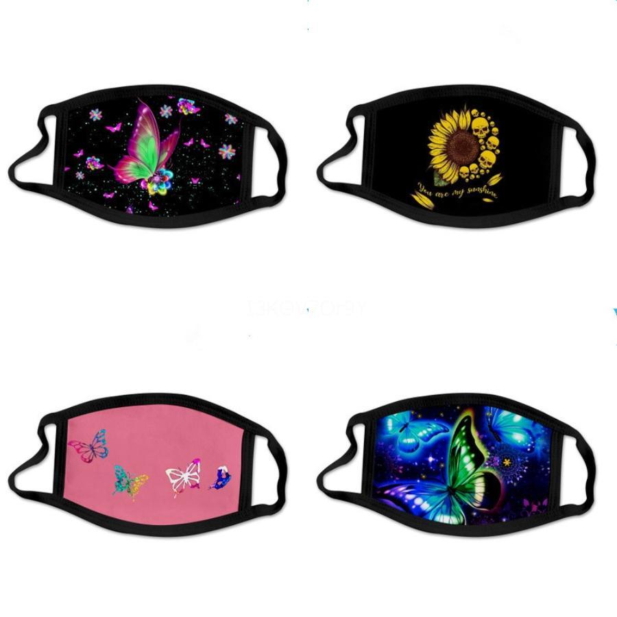 Schwarz Famask PM2.5 Cotton Fa Maskswasable und wiederverwendbare Clot Fa Maske für den Schutz Drucken Magie Bandana Schal # 464 # 452