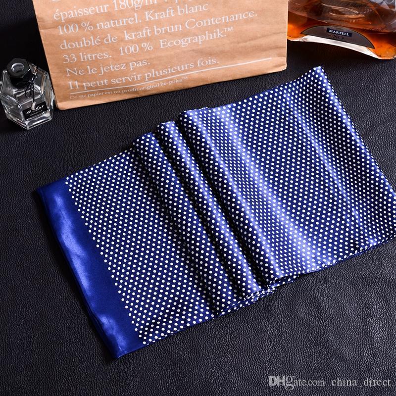 New Vintage 100% Foulard en soie Hommes Mode paisley Motif Fleurs Imprimer Double Couche dot pur satin de soie # 4053 40color Foulards
