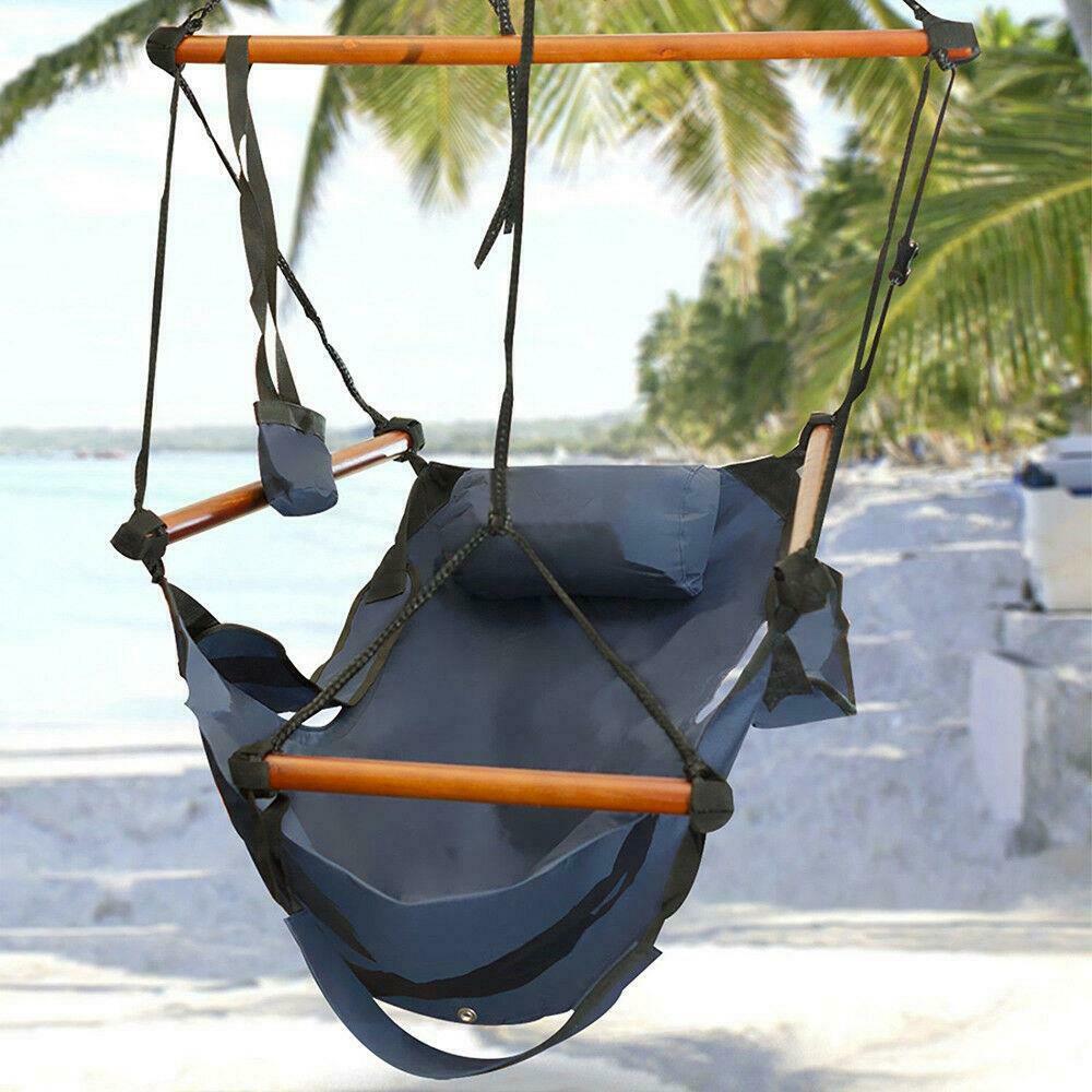 في الهواء الطلق في الأماكن المغلقة معلق أرجوحة كرسي الهواء ديلوكس سوينغ كرسي الخشب الصلب 2 اللون