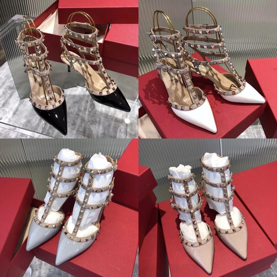 Vestido de festa Moda Sandálias Sexy Enrole Tornozelo Aberto Toed sapatos para as mulheres casamento Bombas 11.5cm Salto Alto lantejoulas Gladiator Sandals C03 # 238