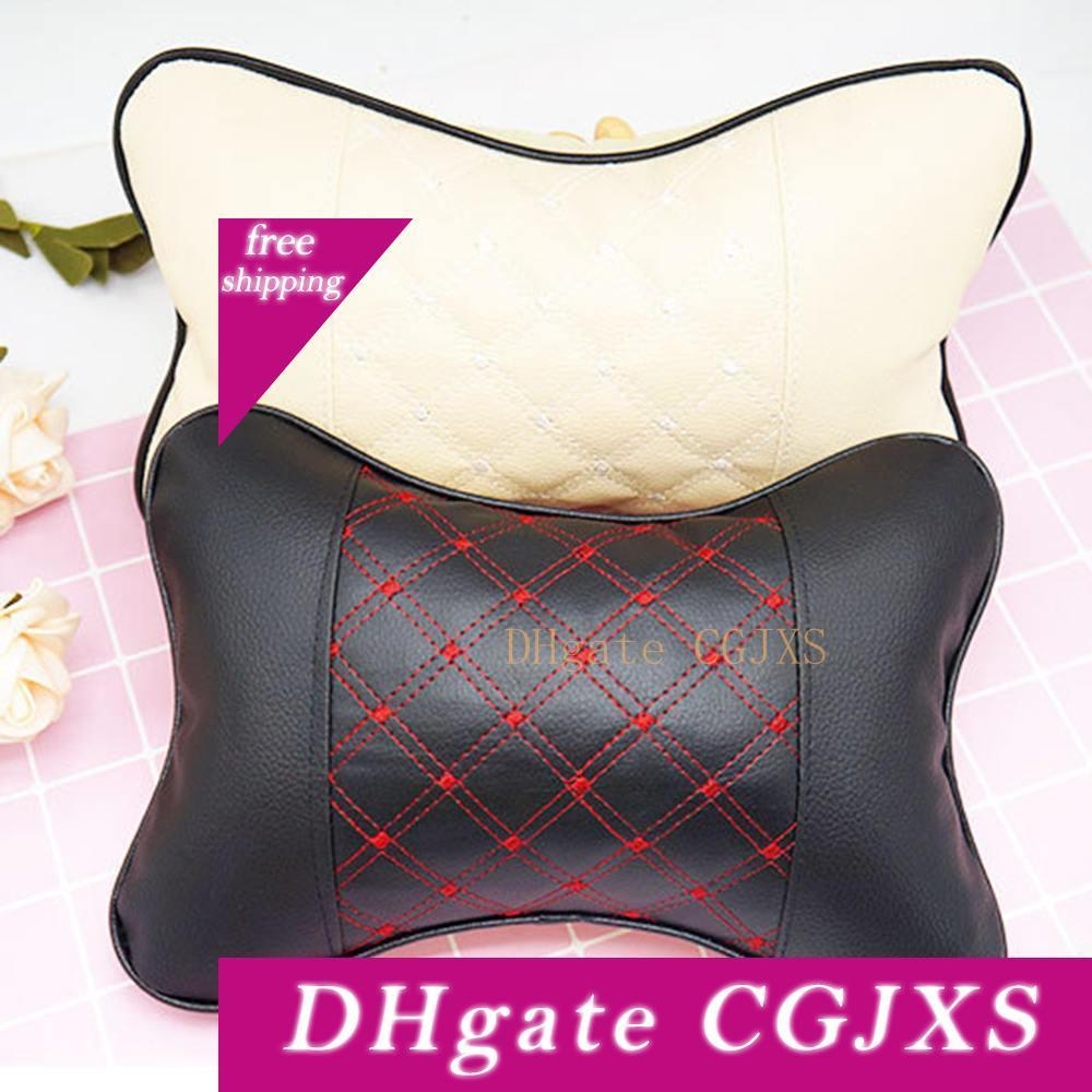 Car Memory Foam Pillow Headrest Car Bone Pillow Neck Support Vehicle Auto Support Fabrics Cushion Accessories
