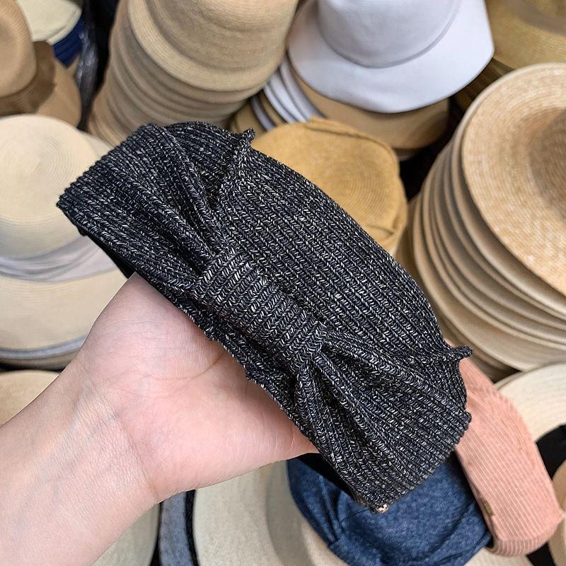 Straw tessuto bowknot Cappello donna traspirante stile coreano tutto-fiammifero di temperamento chic decorativo berretto farfalla berretto basco