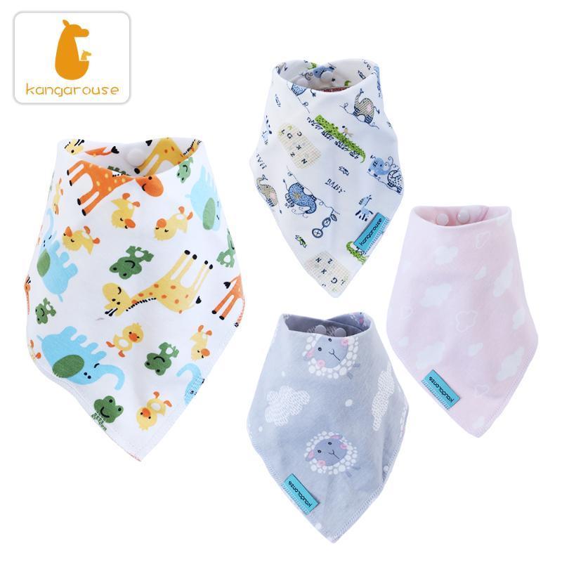 Kangarouse Baby bibs 100% cotton baby scarf Burp Cloth drooling Bandana Bibs Newborn Boy Infant Girl Toddler stuff