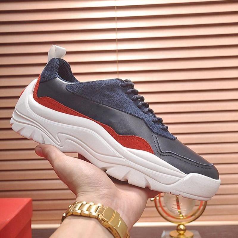 Moda Lüks Erkekler Rasgele Deri Büyük Boy Sıcak Satış Tasarımcı Dantel -Up Gumboy Dana derisi Sneaker Erkekler Casual Ayakkabı Zapatos De Hombre Vl709 Ayakkabı