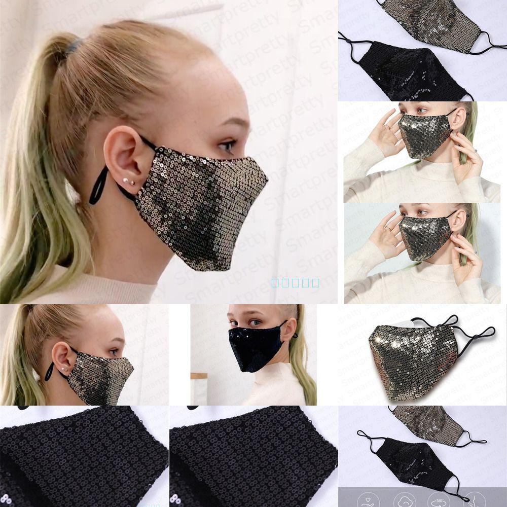 Sequins Glitter Koruyucu Denizkızı PM2.5 toz geçirmez Ağız Kapak Yıkanabilir Yeniden Yüz İlan NJBX Maskesi