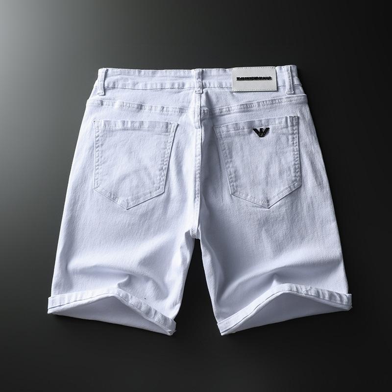 2020 Jeans Shorts dos homens da marca de moda calças jeans dos homens preto e branco cor sólida calções casuais moda