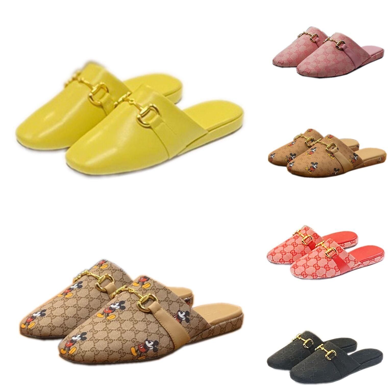 Top qualité Mane En 2006, Paris Gucci Sliders Hommes Femmes Sandales d'été plage pantoufles dames tongs Mocassins Noir Blanc Rouge Slides Chaussures