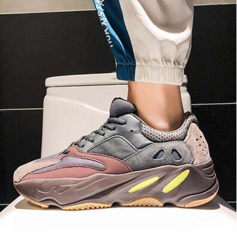 Новый Kanye West Сиреневый Мужские Женские туфли Спортивный топ Качество 700S Спорт Бег кроссовки теннисные случайные обувь де Chaussures SS1