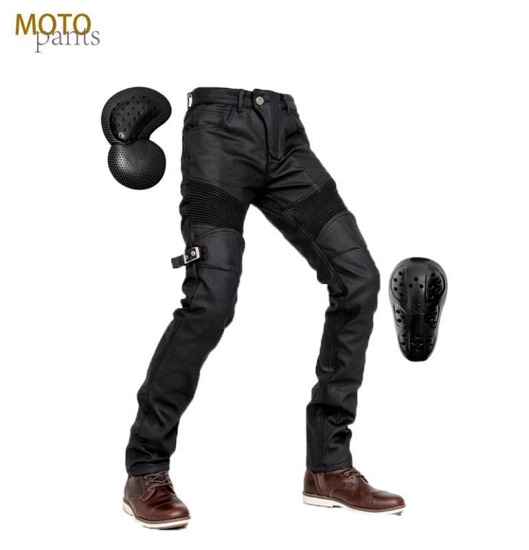 Moto Hose Beschichtete windproof Jeans Motorradhose Damen Jeans Motorradschutz Offroad-Radfahren