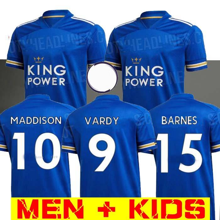 Leicester soccer jersey 20 21 football shirt CITY 2020 2021 VARDY camiseta Barnes MADDISON Perez maillot de foot uniform Men kids kits