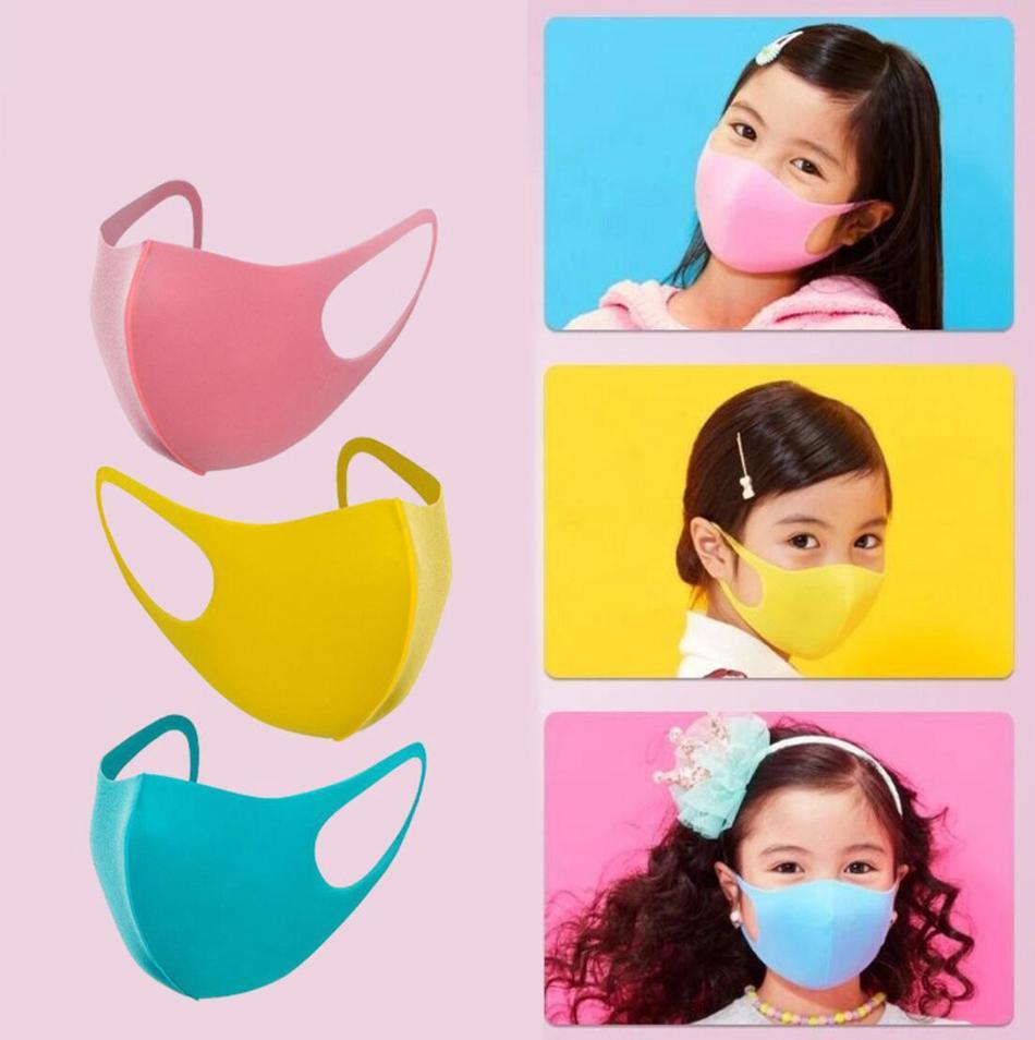 3pcs della maschera di protezione / set Bambino Bambini antipolvere Earloop di protezione Maschera di riciclaggio esterno antipolvere lavabile Cartoo