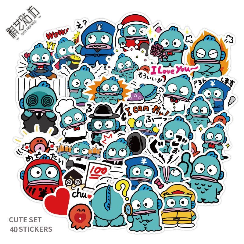 40 Stück Mixed-Auto-Aufkleber Yo japanische Anime für Laptop-Skateboard-Auflage-Fahrrad-Motorrad-Sturzhelm Fahrrad-Cup PS4 Telefon Gitarre Aufkleber PVC-Aufkleber