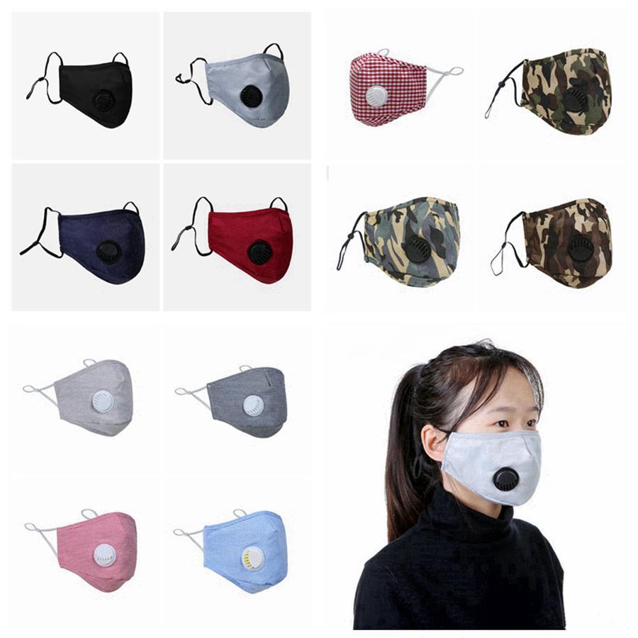 الغبار PM2.5 الوجه قناع التنفس صمام قناع حلقة الأذن قابل للتعديل قابل للغسل قابلة لإعادة الاستخدام مكافحة الغبار الضباب الوجه أقنعة مصمم RRA3294