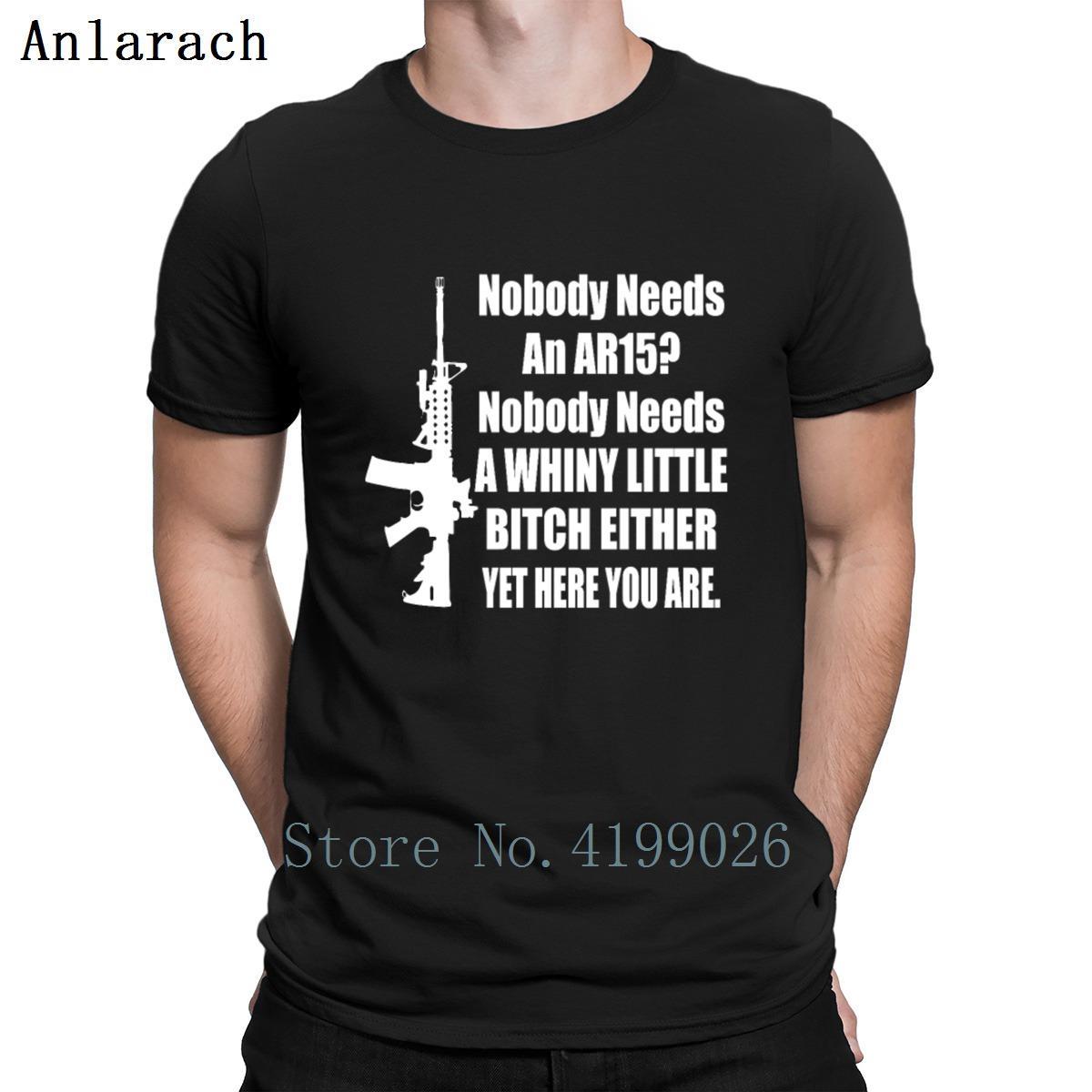 Personne n'a besoin d'un drôle Ar15 Gun Gun shirt T-shirt tricotée Le nouveau été 2019 Hommes Streetwear shirt à manches courtes Pop Top Tee