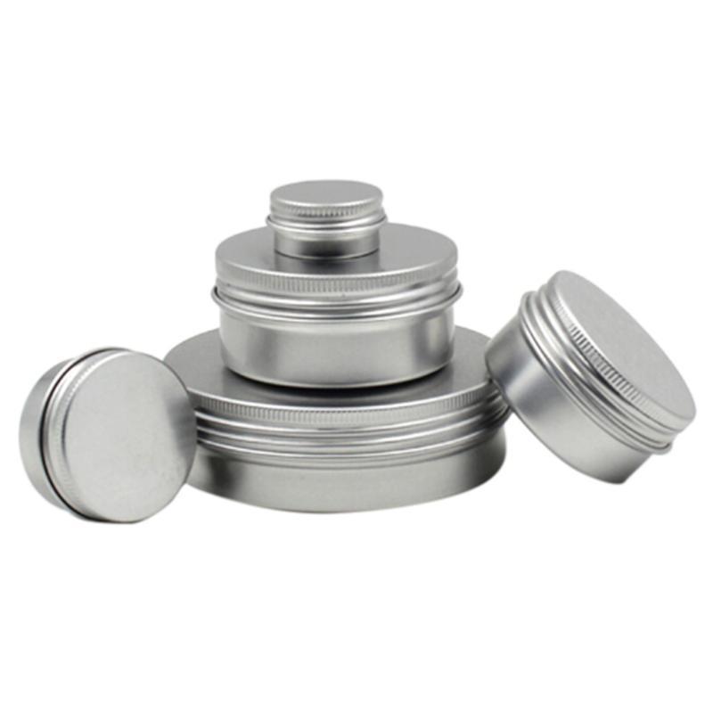 10/20/50/100 / 150ML alumínio Tin Jar Lip recipiente vazio Candle Jars metal Contentores Cream Pot Box