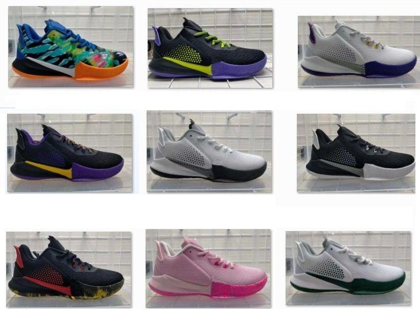 Mamba Fury Basketball-Schuhe 2020 Weiß / Feld Lila Schwarz Rot Bruce Lee zum Verkauf Deadstock Discount Sneaker yakuda store