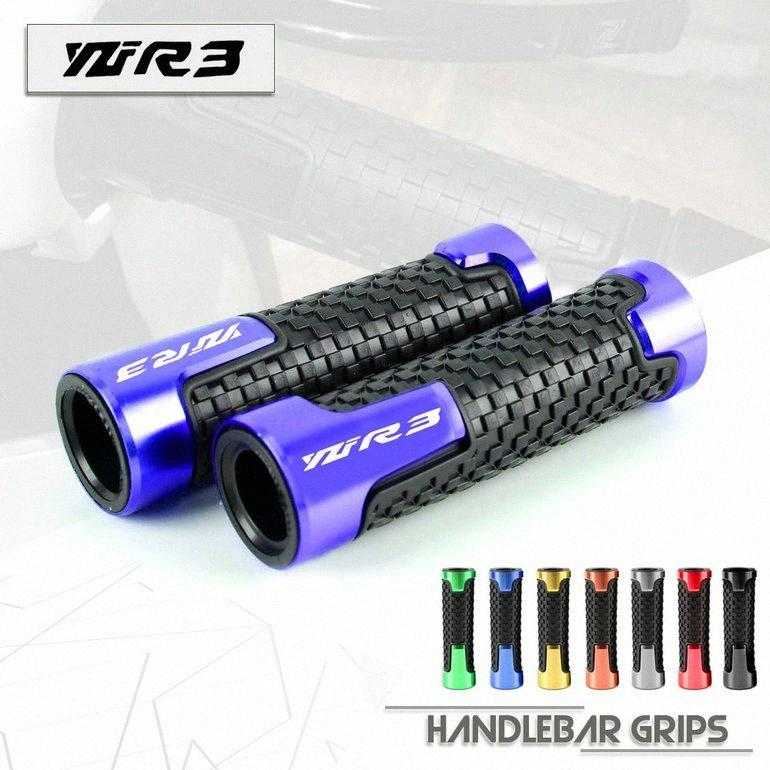 7/8 '' 22 milímetros Universal motocicleta alumínio CNC guiador Para YZF R3 YZFR3 15-19 YZFR3 Moto Handle Bar Gel apertos de mão nxZW #