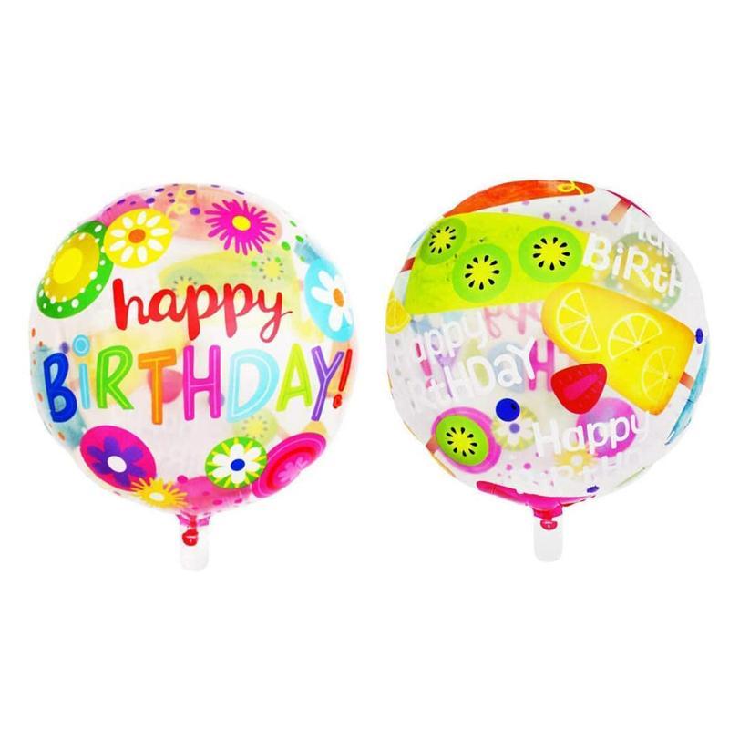 Воздушные шары круглой формы фольги полиэфирной пленки гелием 18inch для детей Дети Birthday Party Decoration