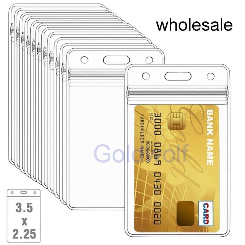 [Mayor] Los titulares de tarjetas de identificación Nombre de plástico transparente vertical Placa de Altas Prestaciones ID Badge titular de la tarjeta vertical Claro vinilo de PVC con el tipo a prueba de agua