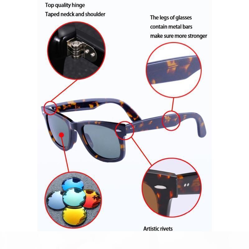 Marco clásico gafas de sol Hombres Mujeres Acetato Negro Pink Gafas de lentes de gafas de sol de diseñador de las señoras de conducción Oculos
