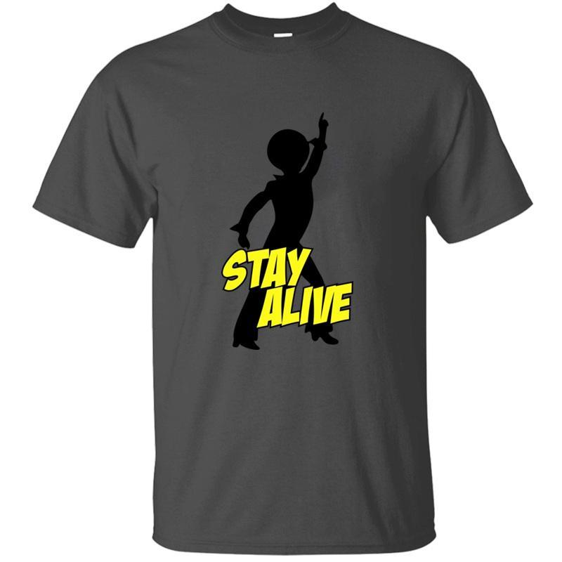 Мода Stay Alive T-Shirt для мужчин Юмор Известные Классические Мужчины и Женщины Tshirts Большой размер 3XL 4XL 5XL Camisetas Tee Top
