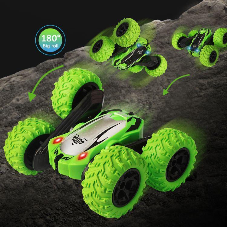 RC Stunt Car 2.4G 4WD Drift Rock Crawler Roll Car Rotating Filp Vehicle Models Remote Control Toys For Children Boys Gift 01