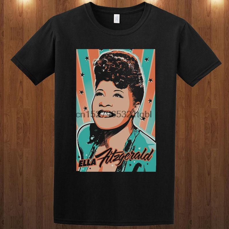 Ella Fitzgerald Jane T Jazz-Sänger Blues Songs S-5xl T-Shirt Kurzarm T-Shirt Art und Weise Harajuku Lustige Tops