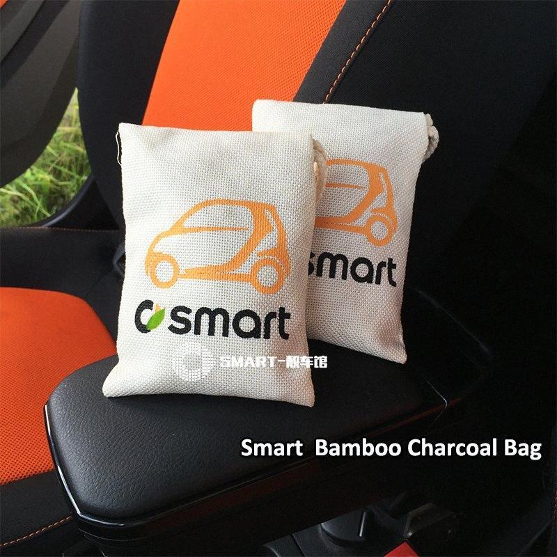 Smart Car ambientador de aire de carbón de bambú del coche del bolso Desodorante de purificación de aire para un crecimiento inteligente 450 451 453 fortwo forfour THzu #