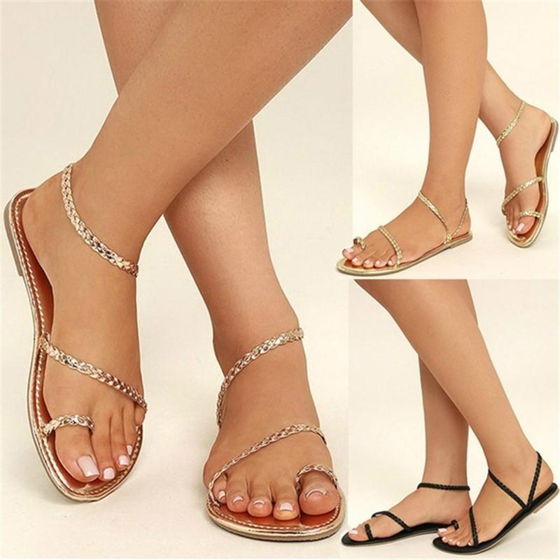 Summer Simple Women Rope Sandals Flat