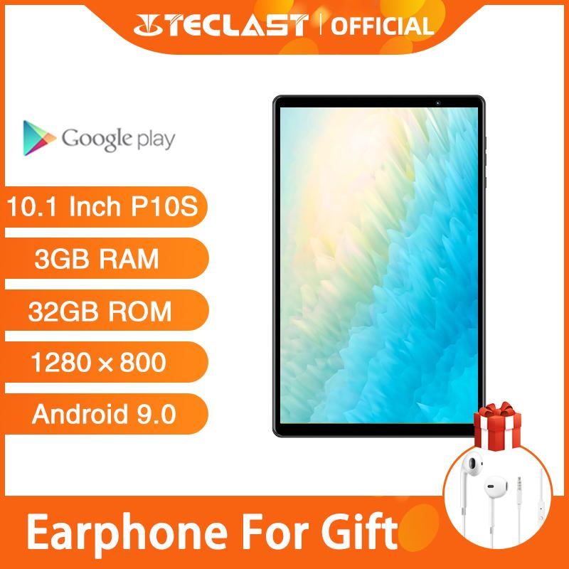 Tablets PC Teclast P10S 4G Call Tablet Android 9.0 SC9863A Octa Core A55 10.1 inch 3GB RAM 32GB ROM Dual Camera GPS Wifi 6000mAh