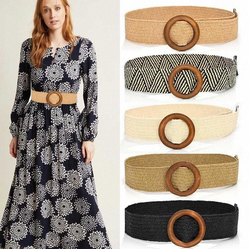 Manera más el vestido ancho cinturón Cinturones Boho para las mujeres vestido de la cintura de la trenza de la vendimia Cummerbund Gran Cinturón Mujer de la pretina de CrnZ #