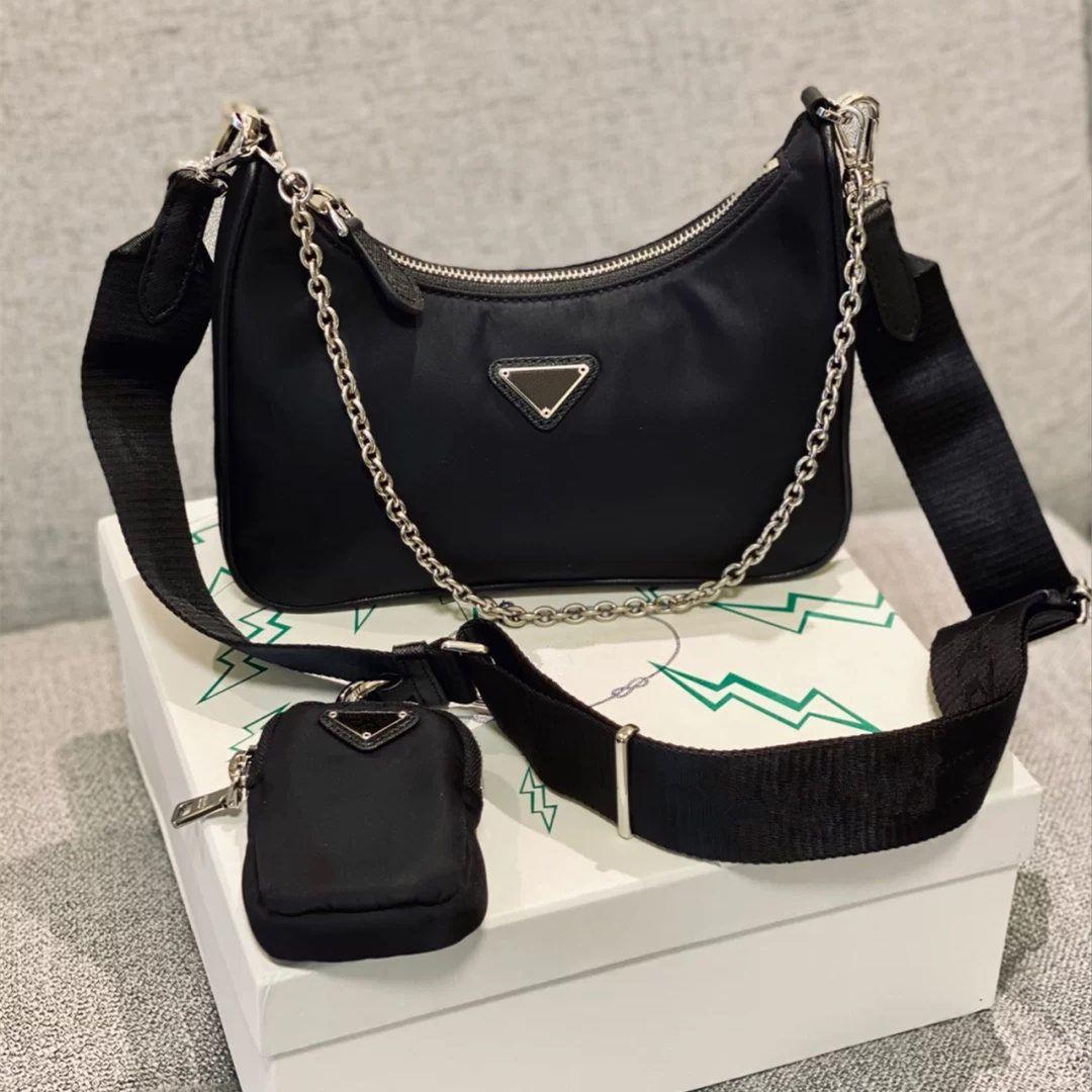 Re-Edition 2005 nylon Designer shoulder bag high quality leather handbag designer best-selling lady cross-body luxury bag chain bag tote