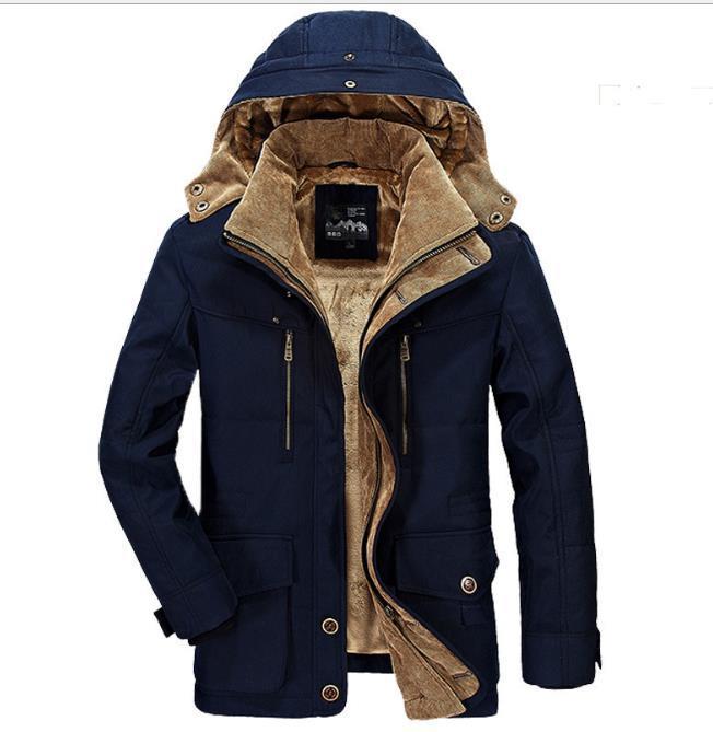 Erkek Tasarımcı Casual Ceket Sonbahar Kış Standı Yaka Artı boyutu Multi Pocket ceketler Coat Erkek Giyim