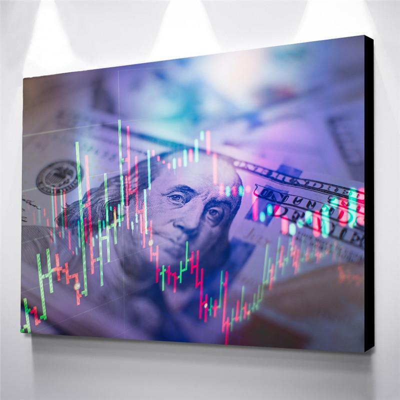 Canvas Poster Modern Home Decor Frame 1 Piece Abstract Dollars Print Money Painting Wall Artwork Modular Picture For Living Room