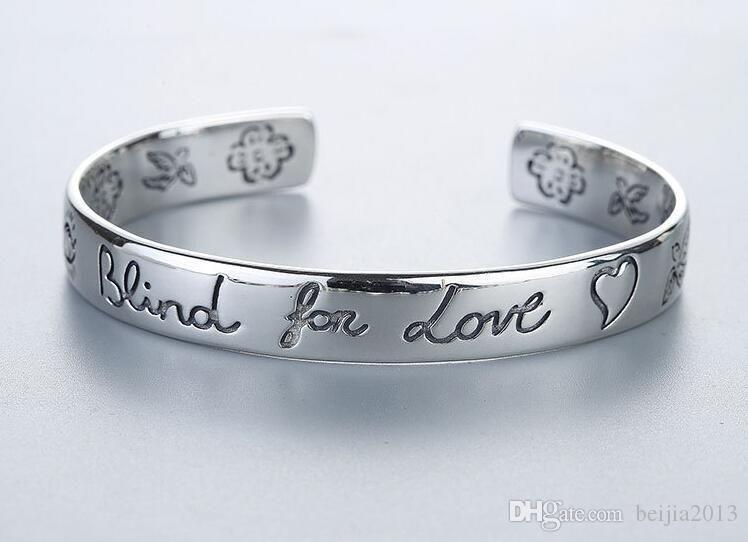 Regalos de la joyería los hombres clásico famoso Suntuoso pulsera de las mujeres ciegas para el amor plata de ley 925 Bracelt de la flor del corazón del brazalete Bracciali